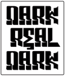 Dark Real Dark Logo Black & White